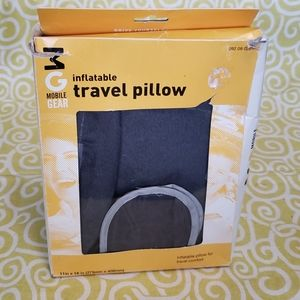 Inflatable travel pillow with removable cover NWT